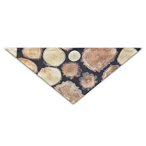 Osmykqe Wood Tree Rings Pattenr Pet Bandana Triangle Dog Cat Neckerchief Bibs Scarfs Accessories for Pet Cats and Baby Puppies -
