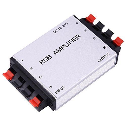 Light Controller, Contrôleur LED à amplificateur RGB à double carte SX-A04, DC 12-24V