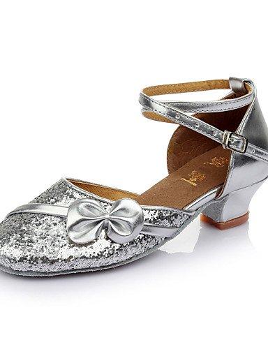 La mode moderne Sandales femme's Kids Chaussures de danse latin/Salsa/Samba/Ballroom Paillette Talon 3.5CM (plus de couleurs) US8.5/EU39/UK6.5/CN40