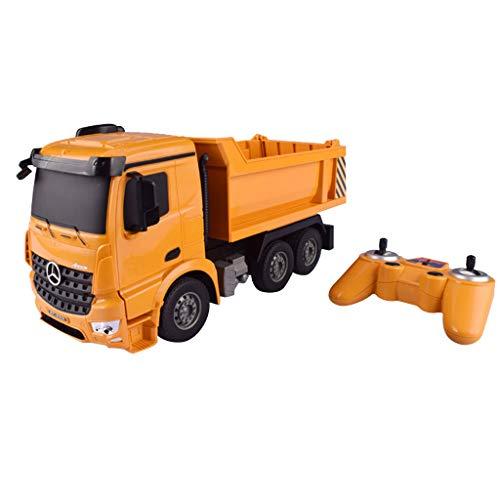 FLAMEER 1:26 RC Ferngesteuerter Kraftfahrzeugkipper Baufahrzeuge Fahrzeug Modell Spielzeug für Kinder Geburtstagsgeschenk