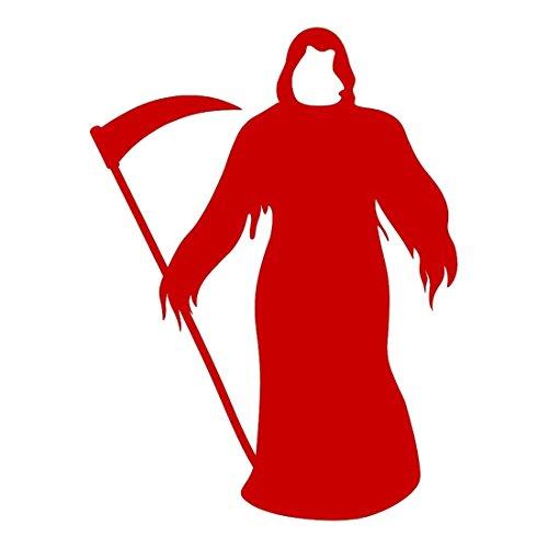 Toogoo(r) l'autoadesivo murale della parete di halloween della morte spaventosa del raso grigio decalcomania di arte della decorazione domestica stagionale rosso