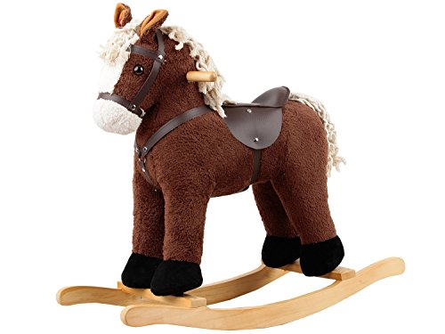 Dunjo� Rocking Horse Brown/White with sound, 65552
