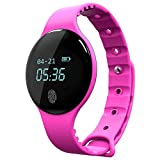 #9: Zibuyu Touch Screen Bluetooth Waterproof with Camera Sports Smart Watches/Rose Red