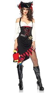 Leg Avenue - Disfraz de moza para mujer, talla UK 10-12 (8377204011)