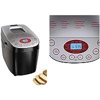 Machine à pain Machine à pain Machine à pain Écran LCD et minuteur basse 15programmes (Same 850W, pétrir, Lever, Pâtisserie, noir)