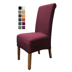 scheffler home emma housses pour chaises 2 pi ces stretch housse bi lastique moderne housse. Black Bedroom Furniture Sets. Home Design Ideas
