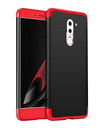 Schwarz Schneiden, Schüssel (HUAWEI Honor 6X Hülle 360 Rote Schwarz Grad Ultra dünn Alles inklusive Schutz 3 in 1 PC Telefon cover case JOYTAG)