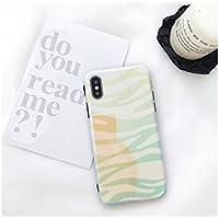 Preisvergleich für OVVO Einzigartiges Desigh iPhone X Farbverlauf Streifen Telefon Cover Slim Liebhaber Telefon Fall (hellgrün)