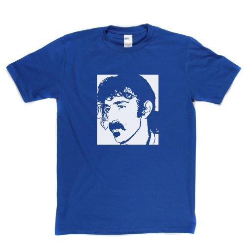 Frank Zappa Portrait Classic Rock Guitarist Tee T-shirt Königsblau