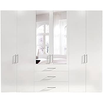 schwebet renschrank kleiderschrank ca 300 cm weiss mit. Black Bedroom Furniture Sets. Home Design Ideas