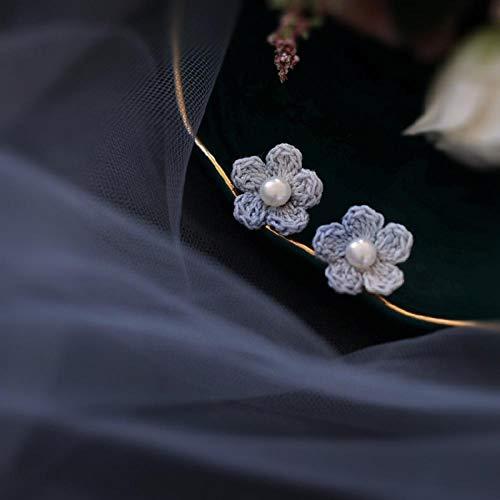 YYAMOMO Goujons Dames Fleurs en Crochet À La Main À La Température Glamour Exquis Design Unique Élégant Jolie Fille Dîner Robe Cadeau Surprise Saint-Valentin, Anniversaire, Bijoux pour Fem