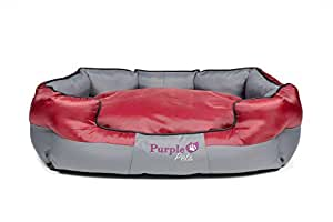 Hundebett, Hundekorb, Hundekörbchen, Katzenbett - Waschbar, Haustierbett, Purple-Pets Traditionelles