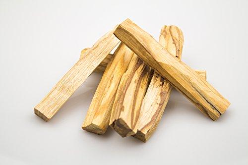 Jeomra 6 große Stücke (ca. 60g) Palo Santo - zertifiziertes und natürliches Holz - aus Peru - Erstklassige Qualität mit hohem Harzanteil -