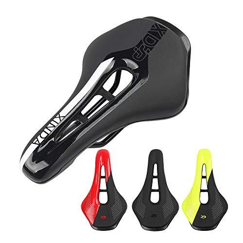 AOLVO Fahrrad-Sattelkissen, Bequeme Gel-Kissen für Herren und Damen, Kindersitz für Mountainbike, Rennrad-Sattel - Druckentlastung, Sattelpolsterung, Fahrrad-Zubehör schwarz/weiß