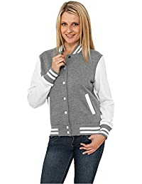 Urban Classics TB218 Damen Jacke Ladies 2-tone College Sweatjacket