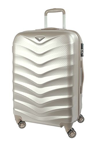 """Verage Seagull Koffer Dazzling Gold L-71 cm (28"""") Erweiterbar Trolley Suitcase Reisekoffer Marken-Qualitätsware Spitzenverarbeitung ABS+PC 4 Doppelräder TSA Schloss"""