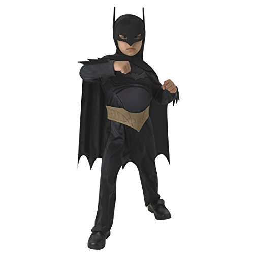 Batman Kostüm The Dark Knight Kinderkostüm L 7-9 Jahre 128-140 cm Comic Held Batmankostüm Superhelden Fledermauskostüm Fledermaus Filmkostüm Jungen Lizenz Heldenkostüm Karneval Kostüme Kinder