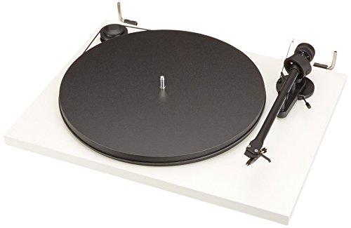Pro-Ject Essential II Phono USB Tourne-Disque entraîné par Courroie Noir, Blanc - Platines (Tourne-Disque entraîné par Courroie, Noir, Blanc, 33,45 TR/Min, 8 g, 21,9 cm, 7 W)