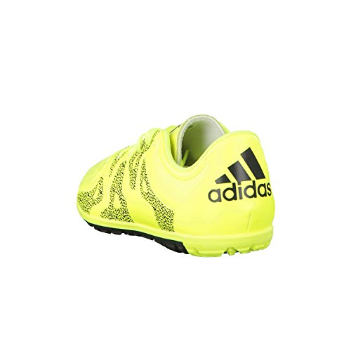 adidas - X 15.3 Tf J Leather, Scarpe da calcio Unisex – Bimbi 0-24 neon yellow / black