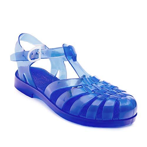 Andres Machado AM188-Sandalias de goma (chanclas de baño), color Azul, talla 48 EU
