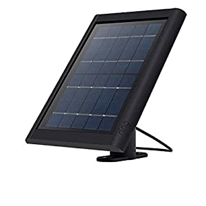 Ring Pannello Solare per Spotlight Cam Battery e Stick Up Cam Battery, mantiene la tua batteria sempre carica, nero