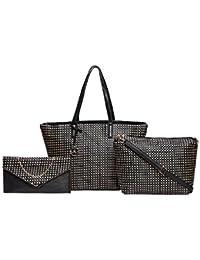 Diana Korr Women's Handbag With Sling (Beige) (Set Of 3) (DK124CBEI)