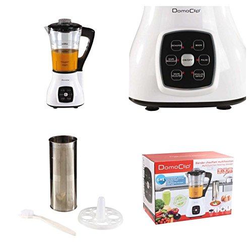 2in1 Multi-Standmixer mit Heizfunktion und Eierkocher (Smoothie-Maker, digital, Glaskrug 1,7 Liter, Blender, Mixer, 800 Watt, Koch-Mixgerät, 6 Programme)