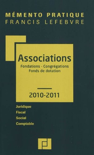 MEMENTO ASSOCIATIONS FONDATIONS CONGREGAT.