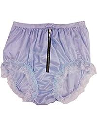 cf904a99b32593 NQH23DI07 Fair Purple Blue Zipper Handmade Lace Briefs Nylon Plain New  Knickers Panties Underwear Lingerie Men
