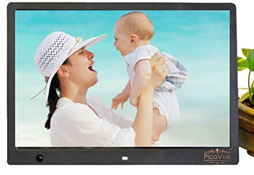 PicaVue Ultra Slim 15 Inches Digital Photo Frame with Motion Sensor ...