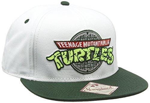 Turtles Snap Back Cap - Logo, Weiss/Grün