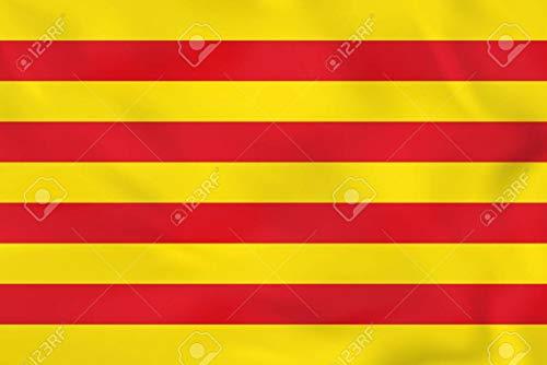 Durabol Bandera de Cataluña 150*90 cm Satén +Regalo una pegatina