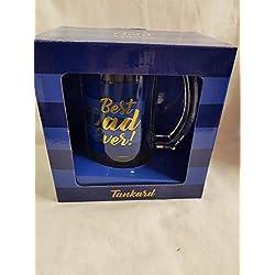 Best Dad Ever - Jarra de cerveza (azul), algo diferente, regalo perfecto para cualquier ocasión