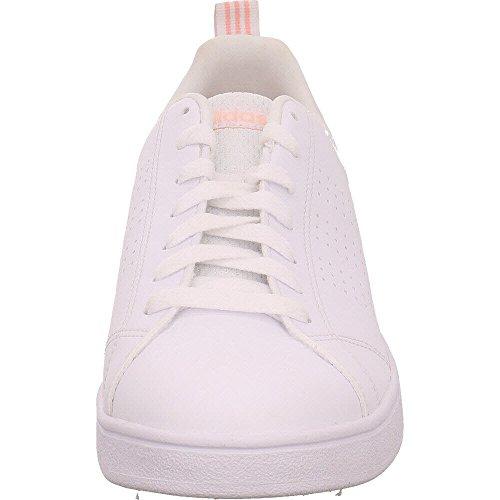Adidas Vs Advantage Clean, Zapatilla Donna Bianco (calzado Blanco / Calzado Blanco / Neblina Coral)