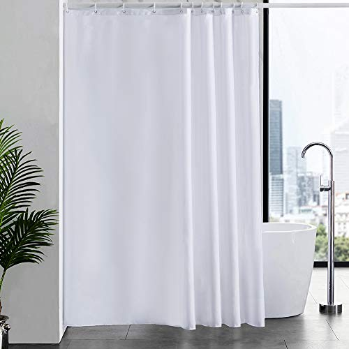 New Power Tende Doccia, Tessuto Anti-Muffa Bianco Impermeabile Ultra Grande Pulita del Fodera Lavabile,Imposta con 12 Ganci di Plastica-180 x 210cm.