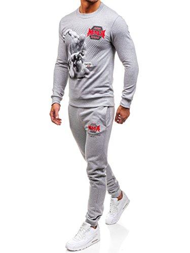 BOLF Tuta da ginnastica – MMA – Con stampe - Di moda – Da uomo OXCID X219 Grigia XL [8H8]