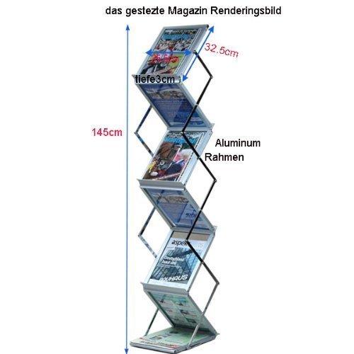 Loywe faltbarer Prospektständer Katalogständer aus Plexiglas LW3524