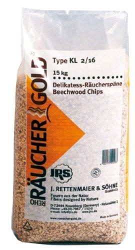 Räucherspäne (4,0- 12,0mm) 15kg Räuchergold KL2/16 Buche grob JRS Rettenmaier