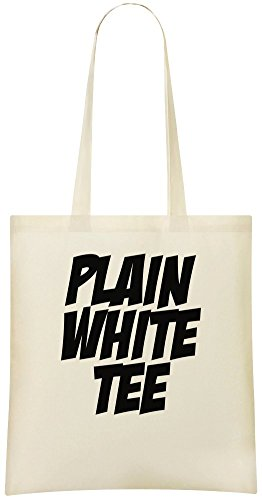 Einfarbiges weißes T-Shirt - Plain White Tee Custom Printed Shopping Grocery Tote Bag 100% Soft Cotton Eco-Friendly & Stylish Handbag For Everyday Use Custom Shoulder Bags
