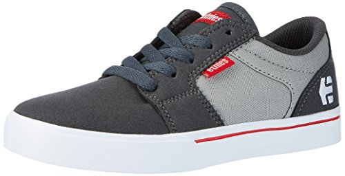 Etnies Unisex-Kinder Kids Barge LS Low-Top, Grau (Dark Grey/Grey/Red), 38 EU (Mädchen Etnies Kids Schuhe)