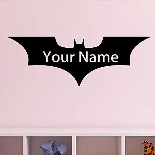 Preisvergleich Produktbild zaosan Fledermaus Muster Wandaufkleber Entfernbare Wandaufkleber DIY Name Tapete für Wohnzimmer Schlafzimmer Stikers für Wanddekoration Wandmalereiencm 157x55cm
