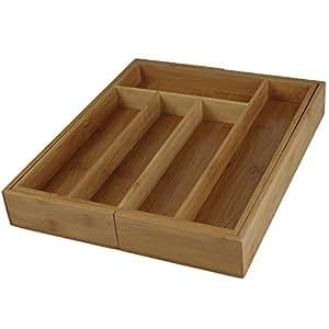 range couvert extensible range couverts pour tiroir en bambou bois modulable rangement. Black Bedroom Furniture Sets. Home Design Ideas