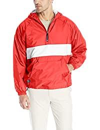 Charles River Apparel Men's Classic Striped Pullover Jacket, Red/White, XXX-Large