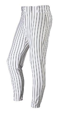 Wilson Erwachsene Poly Warp Knit Woven Pinstripe Baseball Hose, damen Herren, White/Black Pinstripes, S