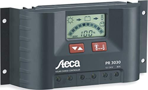 Steca PR3030 Solarladeregler mit LCD Display und Lastausgang für 12V Verbraucher bis 30A Solar Panel Controller