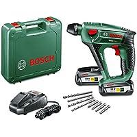 """Bosch Perforateur """"Expert"""" sans fil Uneo Maxx, coffret 2 batteries 18V 2,5 Ah, 4 forets, technologie Syneon 060395230B"""