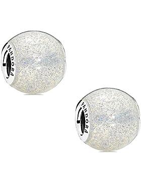Pandora 2-ER SET 796327EN144-2 Charm Silberglänzende Kugel