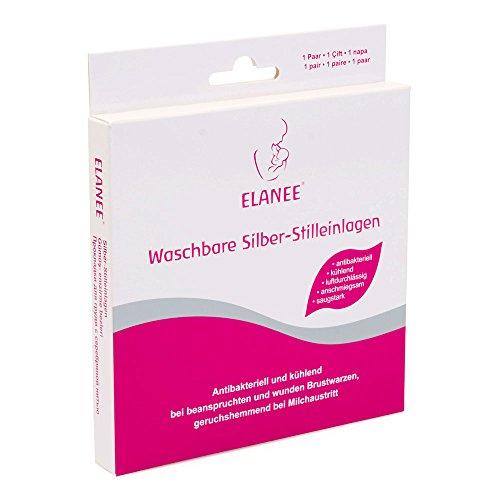 ELANEE 218-00 Silber-Stilleinlagen, Waschbar, 2 Stück