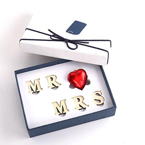 Chiavetta usb luckcrazy 16gb cuore rosso pendrive memoria usb flash drive mr love mrs per i clienti di matrimonio fidanzata fidanzato