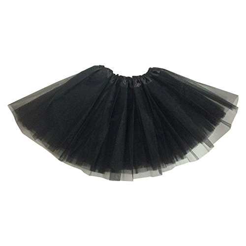 Kostüm Flower Childrens Fancy Dress - Crystal Flower Lady Girls Women Tutu Skirt Skirts Fancy Dress Party Hen Party (Black)